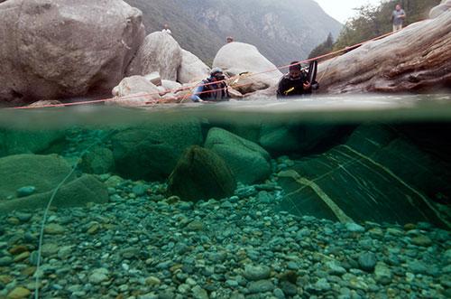 Immersione subacquea da riva