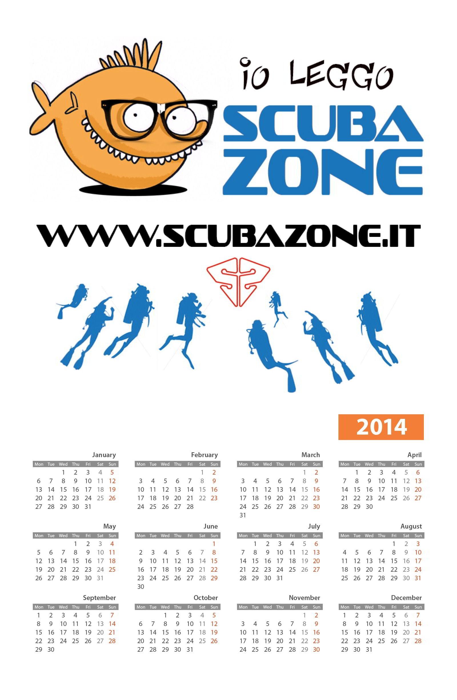 Calendario ScubaZone 2014