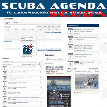 Scuba Agenda, il calendario della subacquea