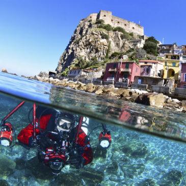 L'immersione da riva