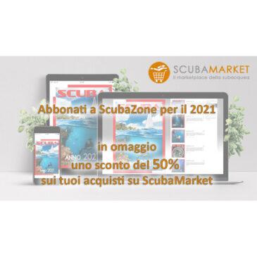 Offerta: abbonamento digitale a ScubaZone + sconto 50% sul catalogo libri ScubaMarket